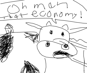Cow complains about the economy