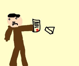 Hitler failing art school