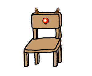 Rudolph the red nose chair