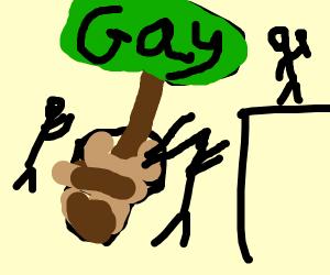 gay pride potplant