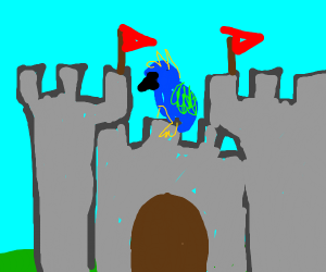 Parakeet in a Castle
