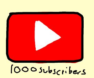 YouTube milestone. 1000 subscribers!