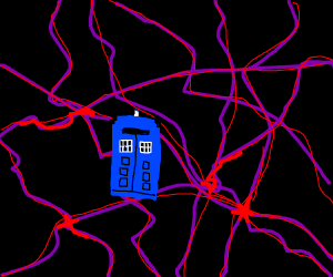 Tardis floating in the void