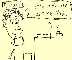 Ethan animates on youtube