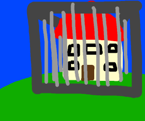 house in a cage