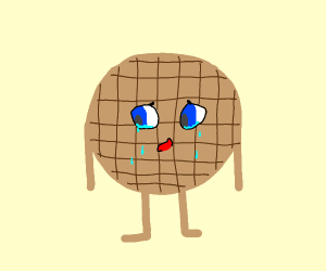 depressed pancake with square dents
