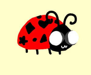 Lady bug with shapes