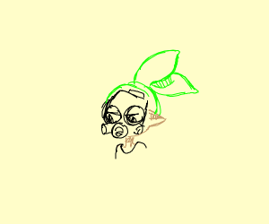Inkling boy with rad gas mask