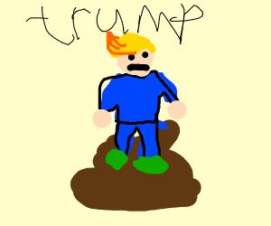 trump the mayor sits in pile of own poop