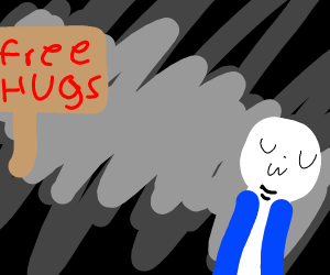 Free hug sans with extra chins