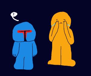 Kid crying over boba