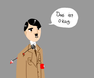 hitler with an arrow in his shoulder
