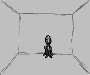 Fancy prisoner in solitary confinement