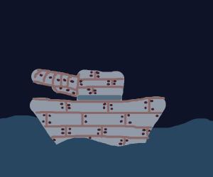 Metal gun boat