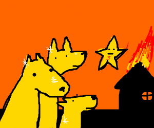 3 gold dogs watch the 5th star set house fire