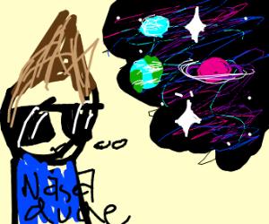 Nasa dude thinks of space