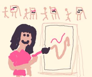 Girl has art block