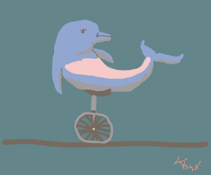 Dolphin on a Unicycle