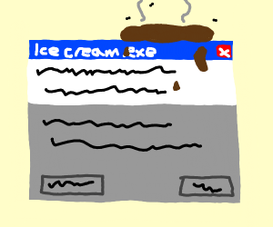 icecream.exe being pooped on