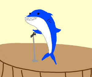 Shark doing Stand Up Comedy