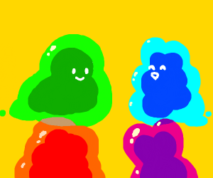 slime friends hanging out