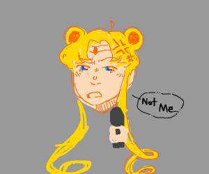 "Sailor Moon threateningly says ""Not me..."""