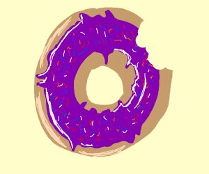 donut with a bite