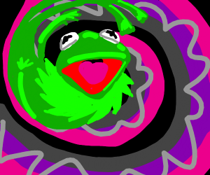Uh, who warped Kermit to another dimension..?