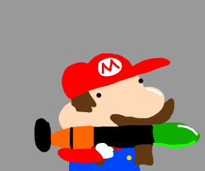 Mario with an RPG