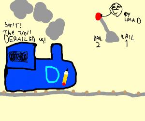 troll loves to derail drawception