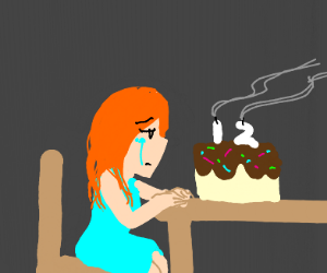 12 year old is depressed and alone on b-day