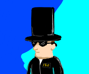 CEO wearing a Top Hat