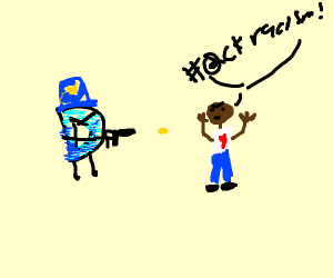 drawception cop shoots black dude