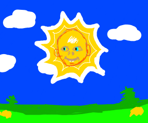 the baby sun from the Teletubbies