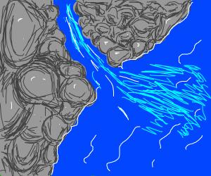 River flows into the ocean