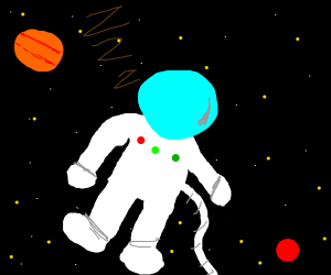 Astronaut falls asleep in space