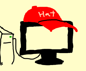 Computer wearing a Hat