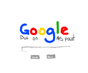 google but made in ms paint