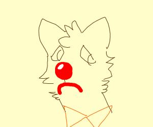 sad furry clown