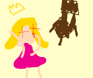Princess peach blows a chair to smithereens