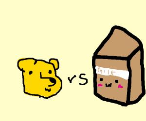 Winnie the Pooh. VS CHOCOLATE MILK!!!!