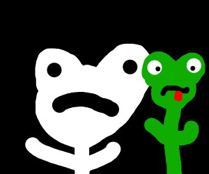 undertale frog with real frog