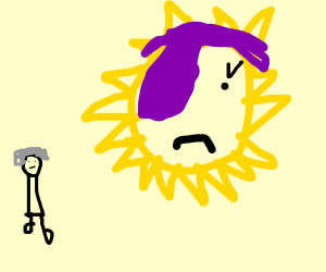 The sun becomes emo due to an older woman