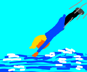 Trump being shot into the ocean