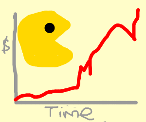 Pacman stock is up, up, up!