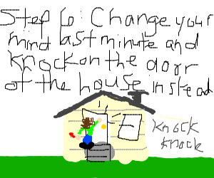 Step 5: use the red stone to blow up a house