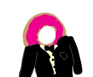 donut in tuxedo