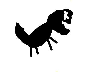 black and white dinosaur