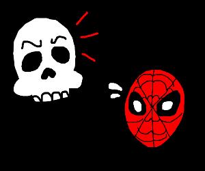 Skull dislikes spiderman