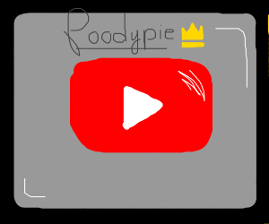 The Youtube logo with Poodypie written on it